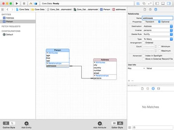 Adding a Many-To-Many Relationship to an Entity in the the Core Data Model