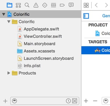 Exploring the Xcode User Interface Navigator