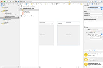 Add Books View Controller to Storyboard