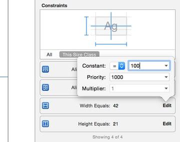 Modifying Constraints