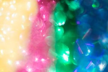 Rainbow glitter abstract