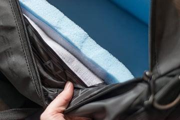 Foam stuck to bag