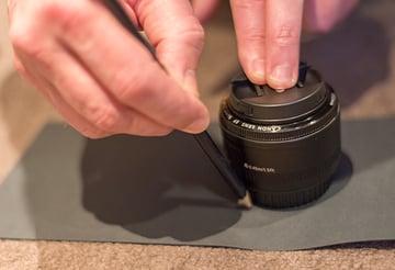 Draw around lens