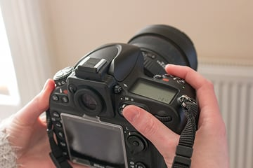 holding the camera with back button focus