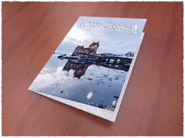 christmas card mock up