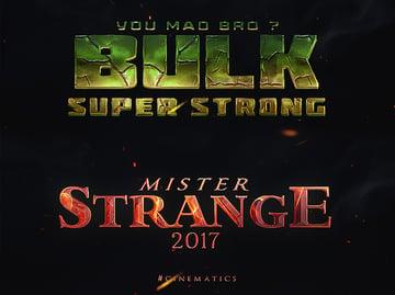 25 SuperHero Trailer Titles Pack