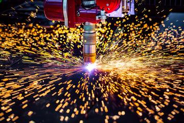 Laser plasma cutting metal