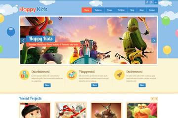 Happy Kids   Website Template