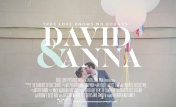 Cinematic Wedding Titles