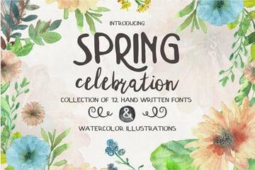 Spring Celebration  A Font Collection