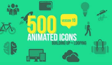 500 Animated Icons AE Templates