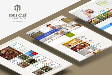 Sous Chef Unique Clean PSD for Culinary Blog