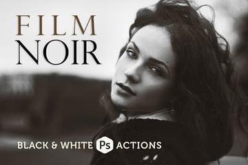 Film Noir BW Photoshop Actions
