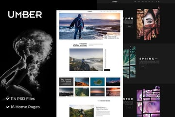 Umber Photography Photography PSD Template