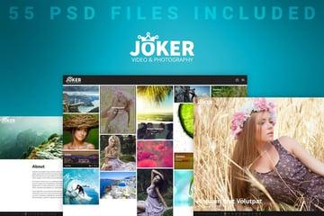 Joker - Photo Video Portfolio PSD Template