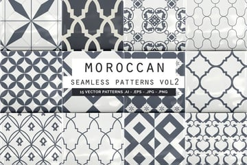 Moroccan Style Seamless Vector Patterns Vol 2