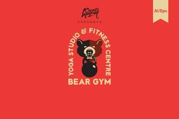 Bear Gym Logo Template