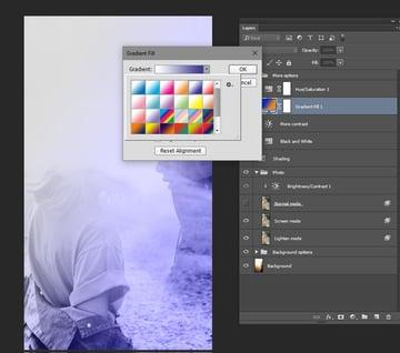 change the gradient to purple