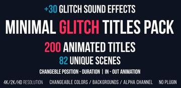 Minimal Glitch Titles Pack 30 Glitch Sound Effects