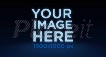 Logo Animation - Logo Floating Over Blue Halo