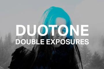 Duotone Double Exposures