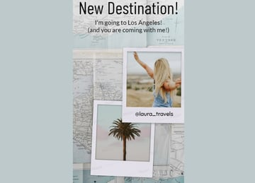 Insta Story Template for a Travel Influencer