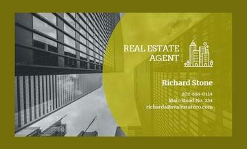 Real Estate Agent Business Card Maker
