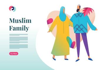 Muslim Family