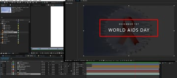 title intro with footage