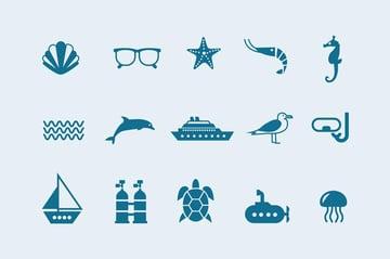 15 Sea  Ocean Icons