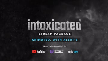 Stream Packages - Alerts Overlays Screens  After Effects