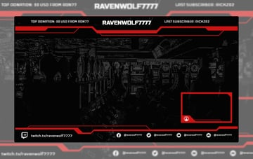 Cool Twitch Overlay Maker with Webcam Frame Layout
