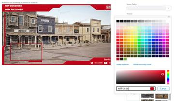 adjust the frame colour