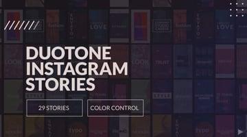 Duotone Instaram Stories and IGTV