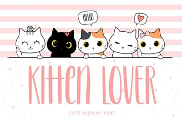 Kitten Lover font available from Envato Elements