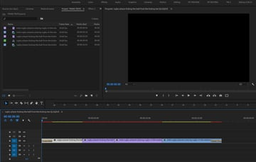 start point with footage in the timeline