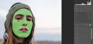 Skin smoothing mask