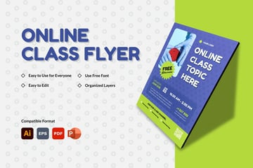 CLASSO - Online Class Flyer - available from Envato Elements