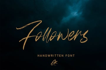 Follower - Font - available from Envato Elements
