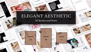15 Elegant Aesthetic Instagram Stories and Posts from Envato Elements