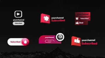 Youtube Subscribe Elements - from Envato Elements