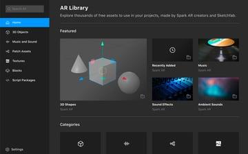 AR Library - image via Spark AR