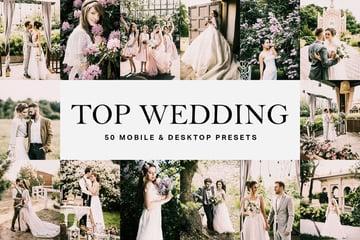 50 Top Wedding Lightroom Presets and LUTs