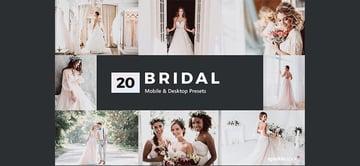 20 Bridal Lightroom Presets & LUTs