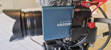 Blackmagic Pocket Cinema Camera 4k with external Samsung SSD