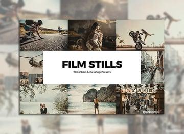 20 Film Stills Lightroom Presets & LUTs