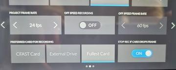 Storage option settings