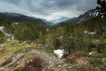 Overcast weather in Switzerland Alps peak by merc67 - from Envato Elements