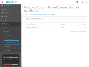 Custom Report Link