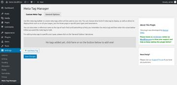 Meta Tag Manager UI
